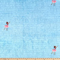Michael Miller Fabrics Minky Lola Dutch At the Library Blue