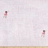 Michael Miller Fabrics Minky Lola Dutch At the Library Soft White