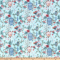 Michael Miller Fabrics Minky Pagoda Dreams Lovely Lanterns Mint