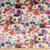 Michael Miller Minky Floral Fancy Beauty In Nature Multi