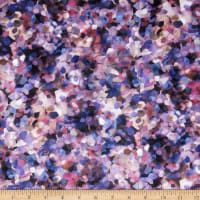 Michael Miller Minky Floral Fancy Shining Sequence Purple