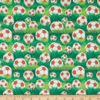 Super Sports Soccer Ball in Grass Red