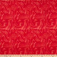 """Westrade Textiles 108"""" Cotton Wide Back Waves Red"""