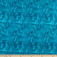 """Westrade Textiles 108"""" Cotton Wide Back Waves Turquoise"""