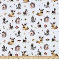 Juvenile Stretch Interlock Knit Prints Forest Life White/Multi