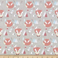 Juvenile Stretch Interlock Knit Prints Fox Tree Grey/Orange