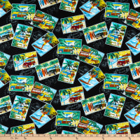 Trans-Pacific Textiles Surftown Postcards Black