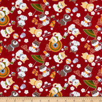 Trans-Pacific Textiles Hachiko Puppy RRed