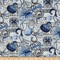 Trans-Pacific Textiles Gone Fishing Blue