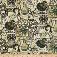 Trans-Pacific Textiles Gone Fishing Moss Green