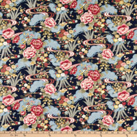 Trans-Pacific Textiles Asian Blend Gold/Navy