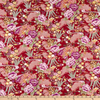 Trans-Pacific Textiles Asian Blend Gold/Red