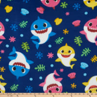 Baby Shark Shark Family Fleece Navy