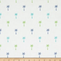 Covington Pindo Palm Embroidered Isle Waters