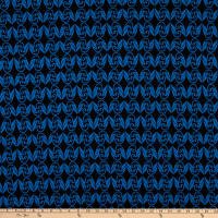 Stretch Liverpool Double Knit Royal/Black