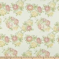 Fabric Merchants Liverpool Stretch Double Knit Vintage Floral Ivory/Rose