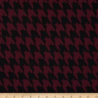 Double Knit Houndstooth Stretch Maroon/Black