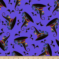 Witchful Thinking Hats With Cats Purple