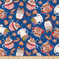 Gingerbread Factory Cups and Cookies Blue