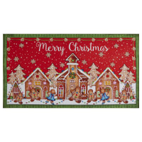 """Gingerbread Factory Gingerbread House 24"""" Panel Red"""