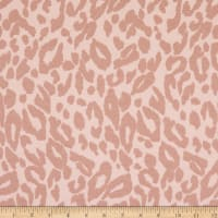 Fabtrends French Terry Knit Animal Peach/Tan