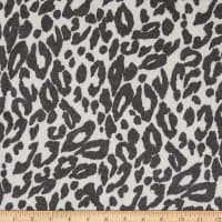 Fabtrends French Terry Knit Animal White/Black