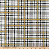 3 Wishes Peace on Earth Plaid Glitter Gray