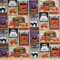 3 Wishes Spooky Night Patchwork Multi