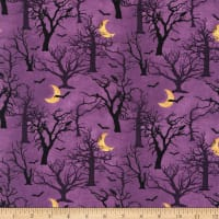 3 Wishes Spooky Night Forest Purple