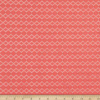 Fabtrends Solid Crochet Knit Coral