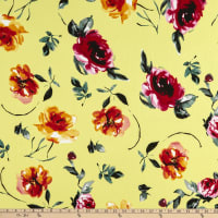 Fabtrends Washer Crepe Ghost Floral Multi