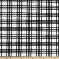 Fabtrends Bullet Knit Plaid Black/Off White