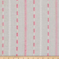 Embroidered Stripe Lawn Pink