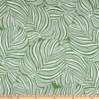 Performatex Leafy Canope Outdoor Matelasse Green & White