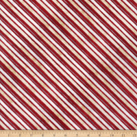 Wilmington Time for Hot Cocoa Diagonal Stripe Red