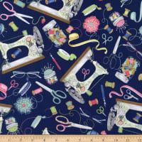 Wilmington Sew Little Time Large Allover Blue