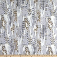 Texco French Terry Ethnic Print Silver/Grey