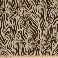 Texco Stretch ITY Matte Jersey Animal Print Camel/Chocolate