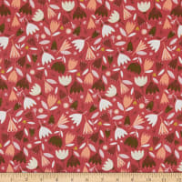 Felicity Fabrics Garden Foray Meadow Mixed Flowers Red
