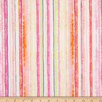 Timeless Treasures Digital Spring Song Watercolor Stripe Pink