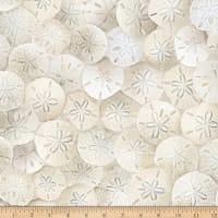Timeless Treasures Beach Day Packed Sand Dollars Sand