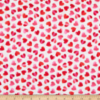 Timeless Treasures Hearts & Dots Large Ombre Hearts Pink