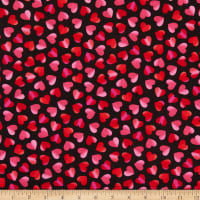 Timeless Treasures Hearts & Dots Large Ombre Hearts Red