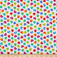 Timeless Treasures Hearts & Dots Large Ombre Hearts White