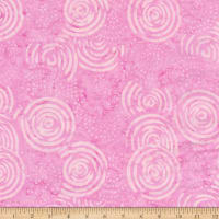 Timeless Treasures Tonga Batik Icing Dotted & Solid Small Spirals Pink