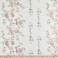 Claridge Home Climbing Blossoms Woven Embroidered Pink