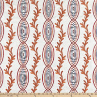 Claridge Home Coral Crewel Woven Embroidered Red/Orange