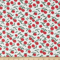 Telio Playday Cotton Poplin Fruit Print White/Cherry