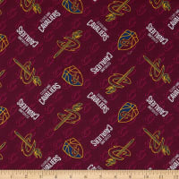 NBA Cleveland Cavs Cotton Broadcloth Red