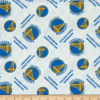 NBA Golden State Warriors Cotton Broadcloth White